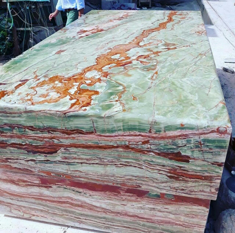 Pakistan Green Onyx Blocks