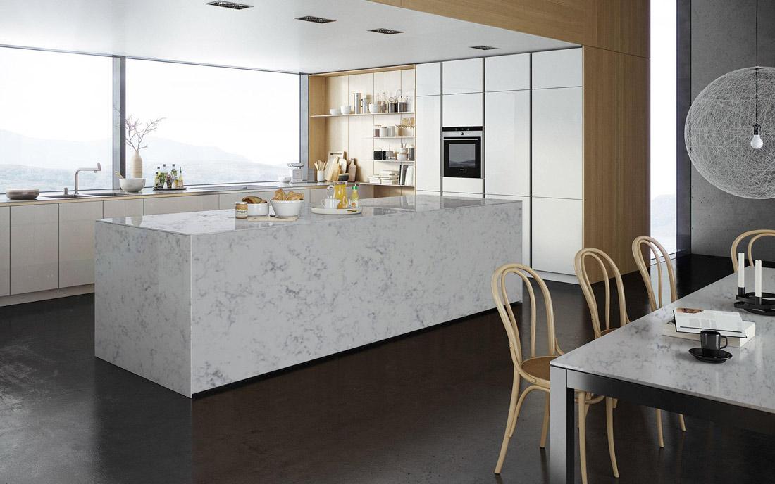 Beautiful Kitchen Countertops : Crystal quartz kitchen countertop interior decoration photos
