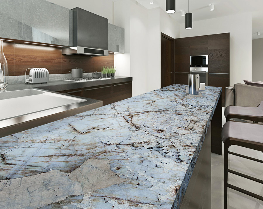 Crystal Quartz Kitchen Countertop
