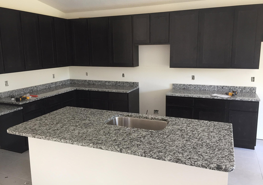 White And Gray Countertop Kitchen