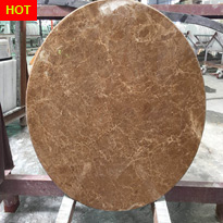 Brown Marble Round Table Tops