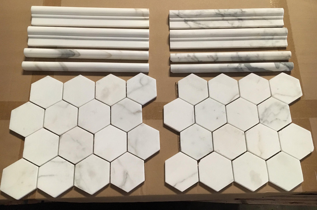 Calacatta White Marble Mosaics