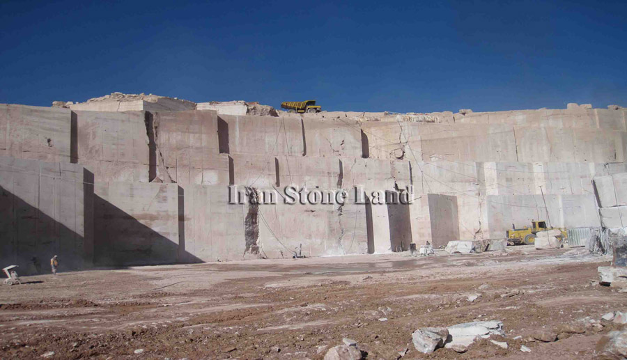 White Travertine Quarry Iran Stone Land Iran Stone Quarry