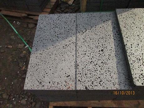 Lavastone with holes (basalt)