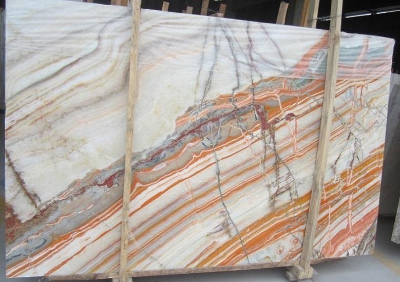 Rainbow Onyx Marble : White onyx