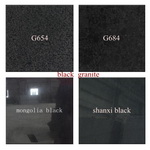 black granite G654 G684 mogolia black shanxi black