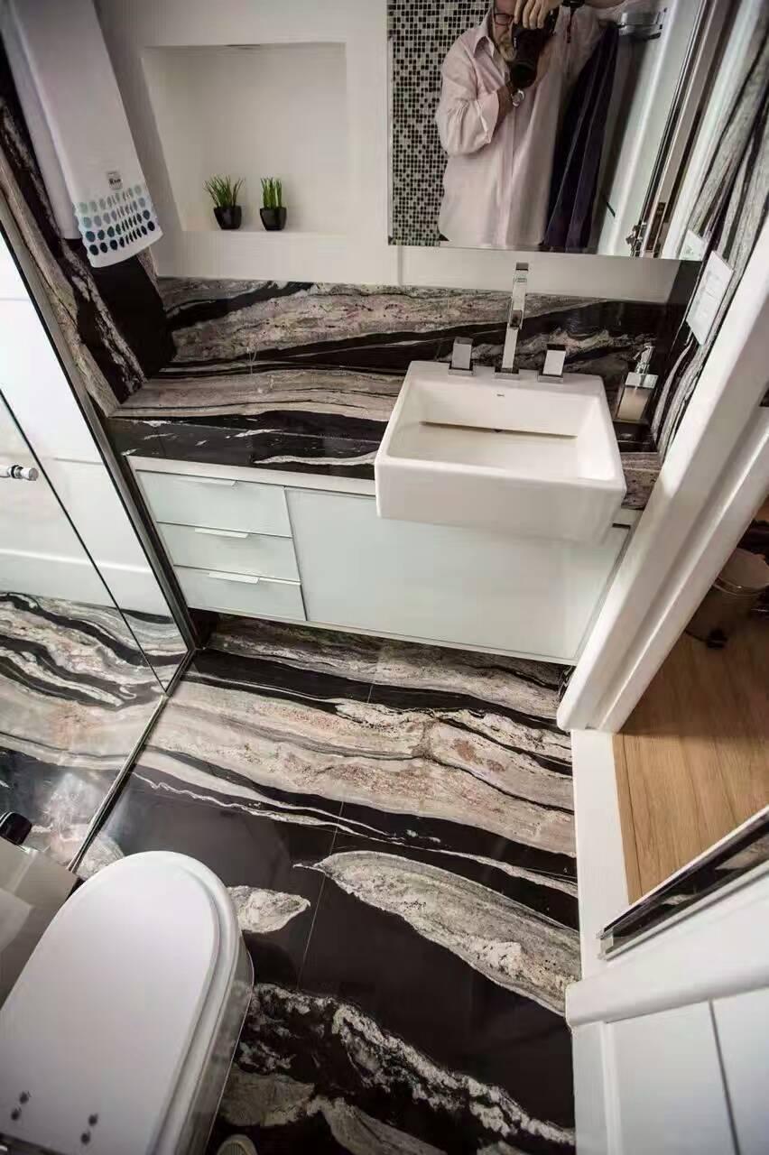 Cosmic Black Granite Tiles Polished Tiles For Flooring