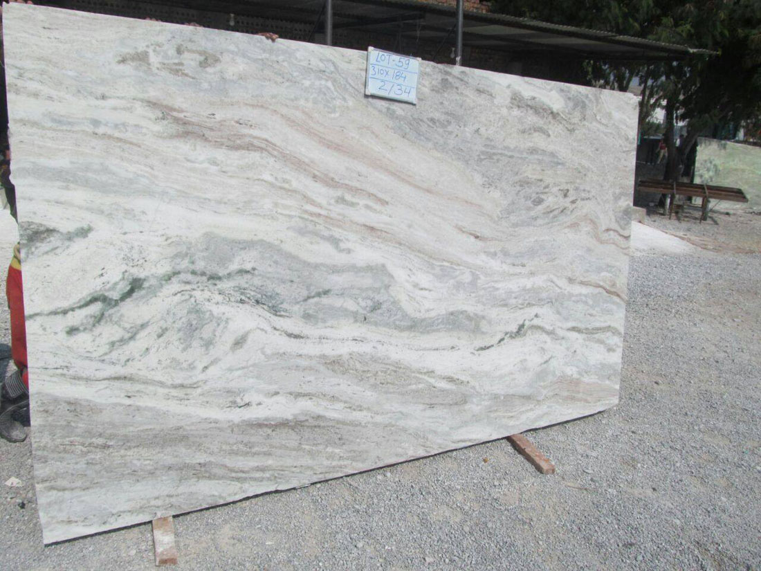 Thunder White Granite Slabs From India Supplier
