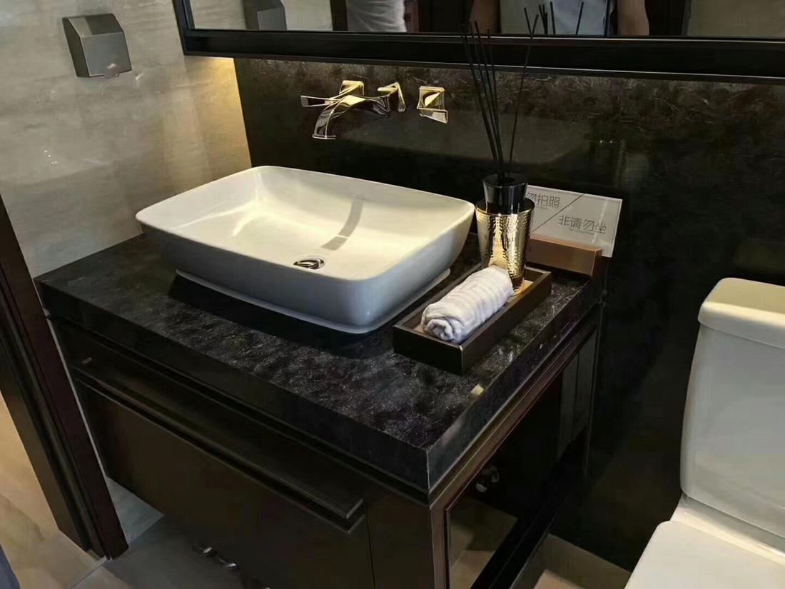 Versace Matrix Fantaxy Black Granite Bathroom Vanity Tops