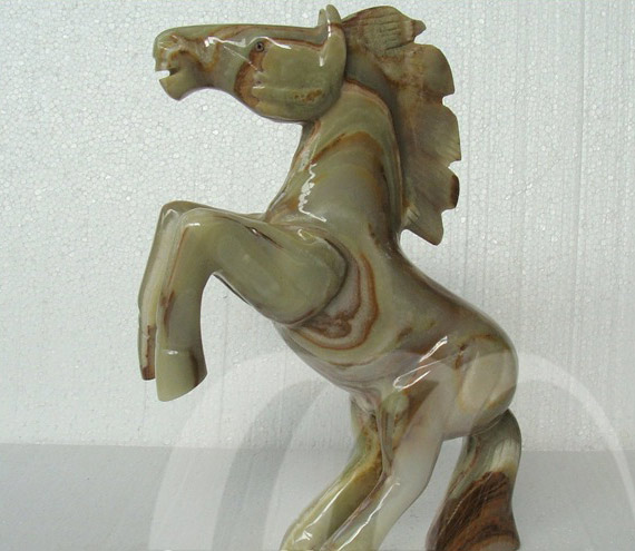 Onyx Horse Sculpture