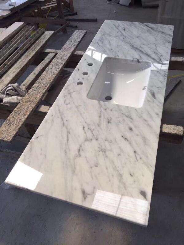 Granite bench tops granite countertop granite sinks granite - White Marble Granite Vanity Tops And Vintage White Brick