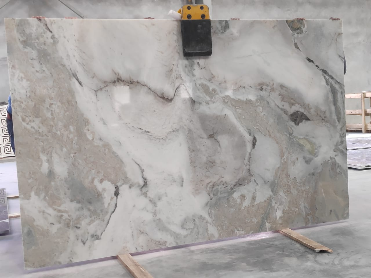 Frozen White India Marble Slabs