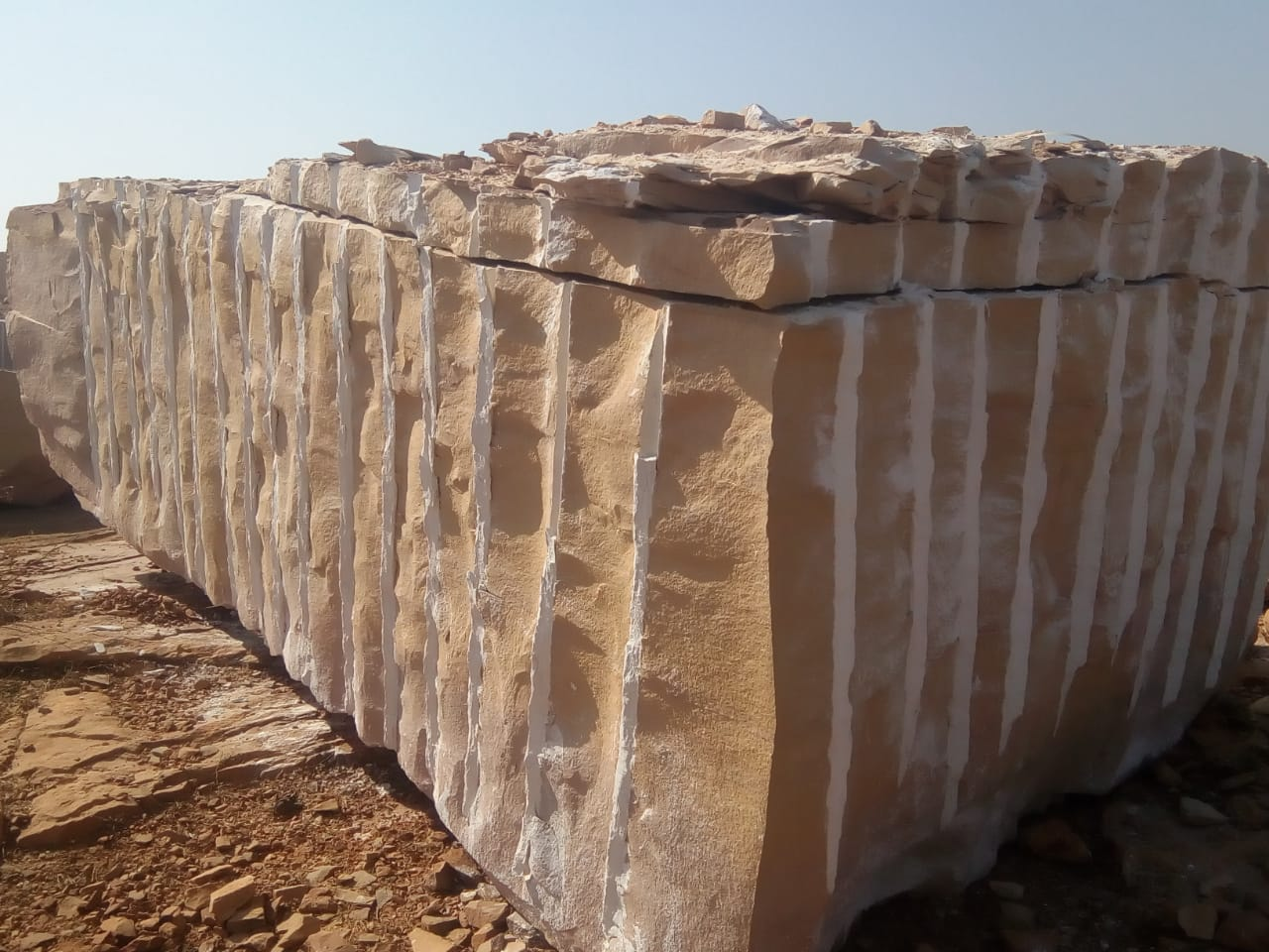Yellow Sandstone Blocks