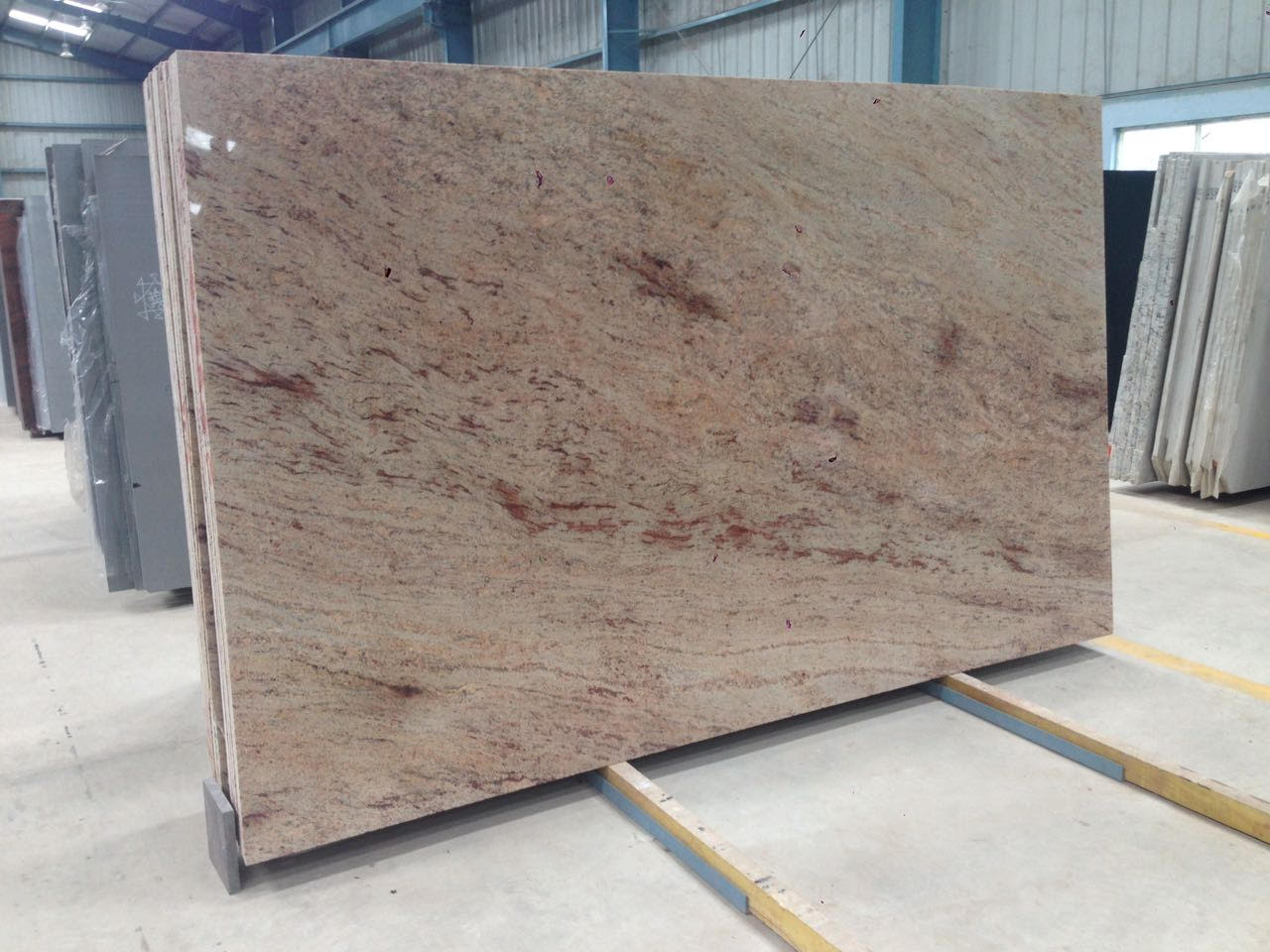 Ivory Gold Polished Granite Slabs