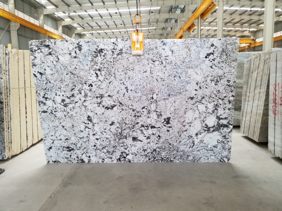 Polished Alaska White Granite Slabs