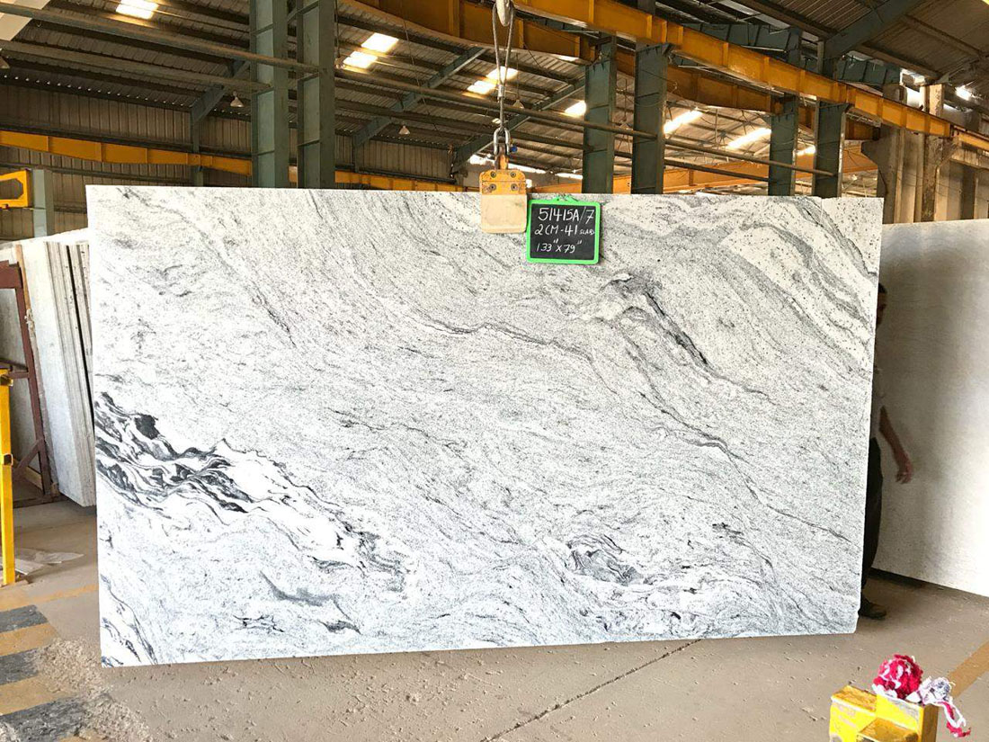 Viscount White 2cm Thick Polish Slabs