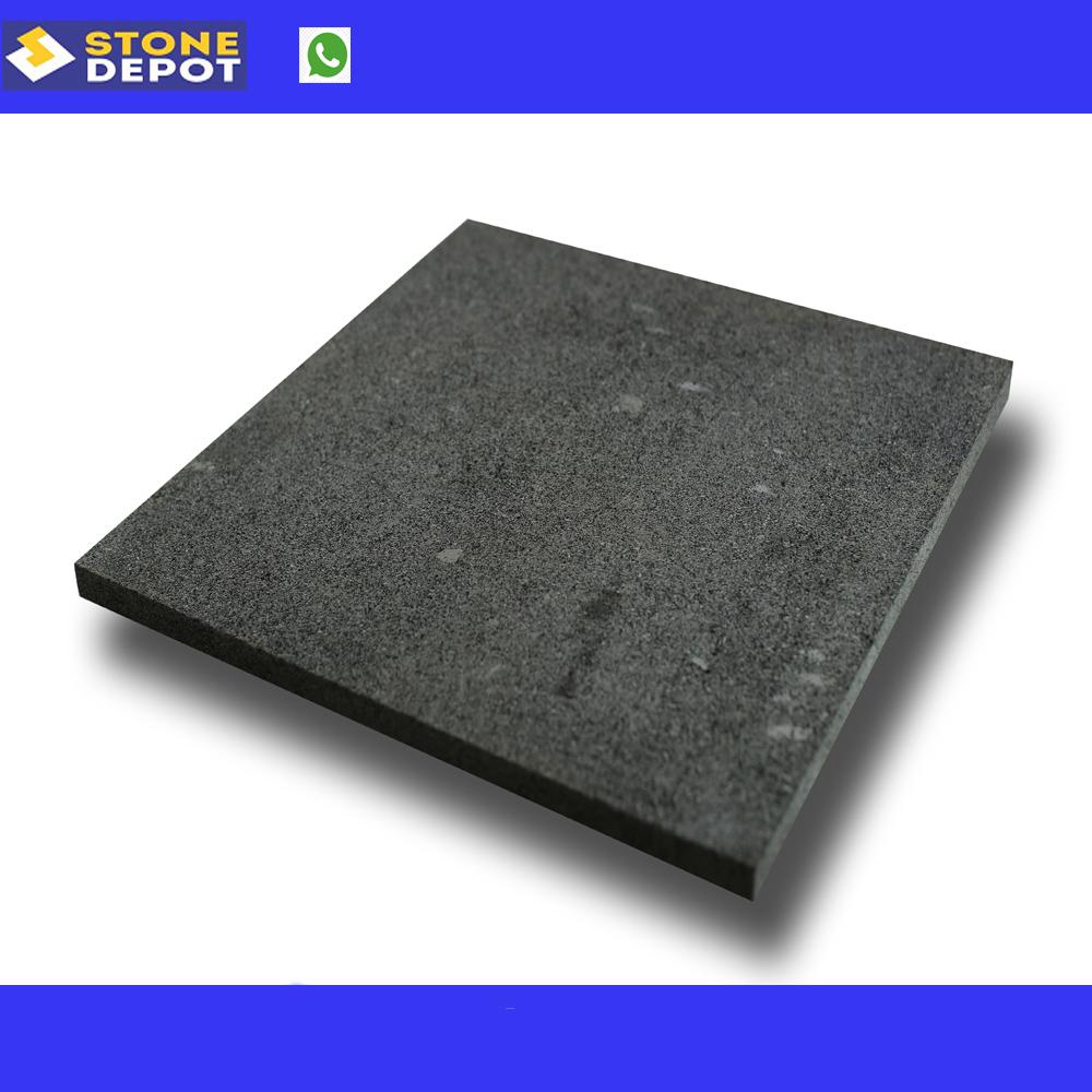 Bali Black Lavastone Honed Black Stone Tiles