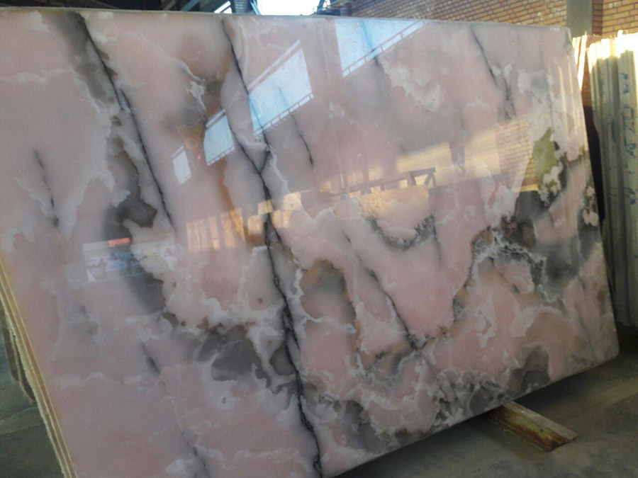 Pink Onyx Slab : Pink onyx slabs