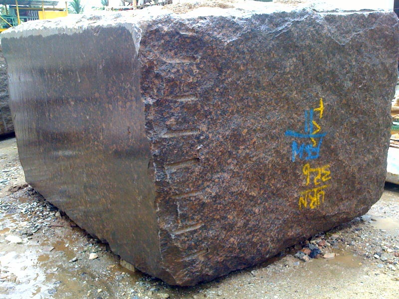 Tan Brown Granite Blocks