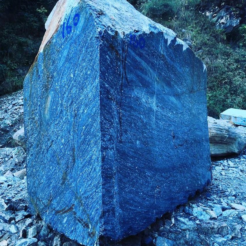 Blue Granite Blocks