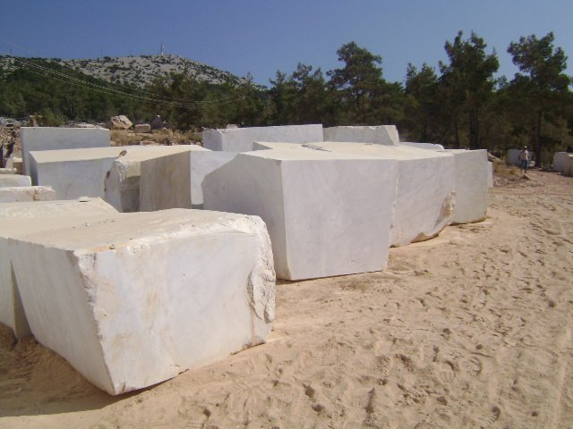 Mugla White Marble Blocks
