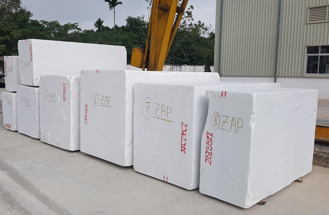Vietnam Pure White Marble Blocks