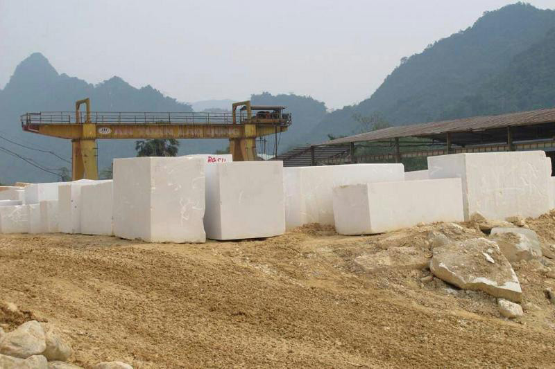 Vietnamese Pure White Marble Natural Blocks