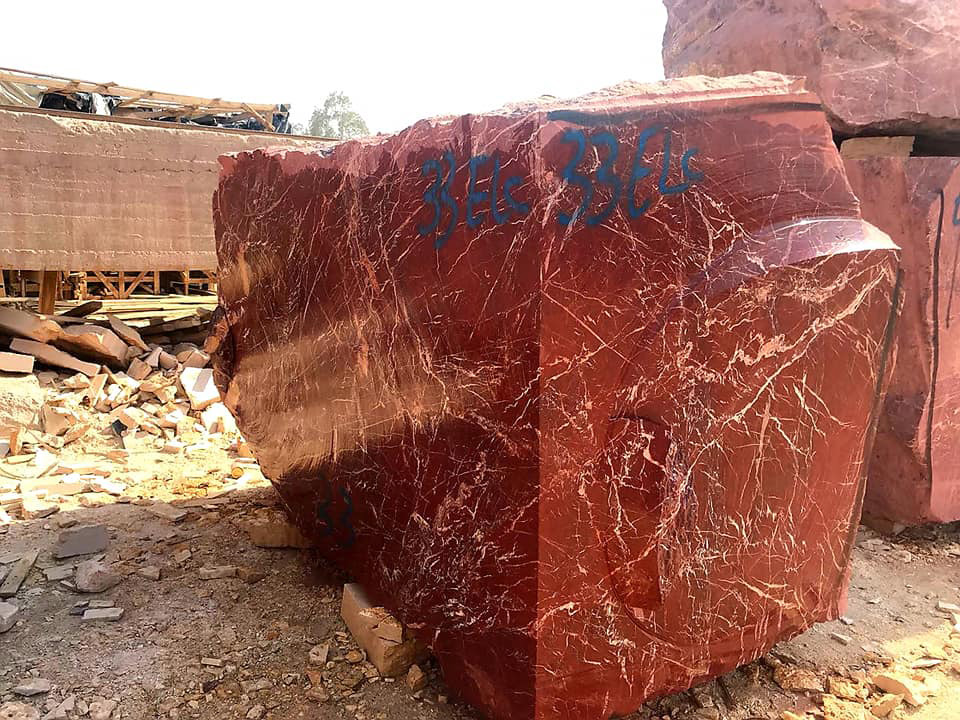 Red Jasper Marble Blocks