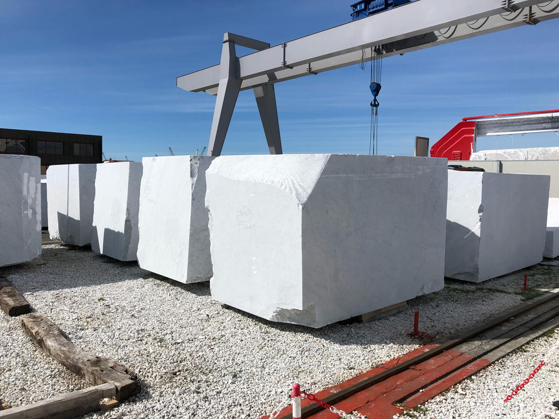 Italian Bianco Carrara Marble Rough Blocks