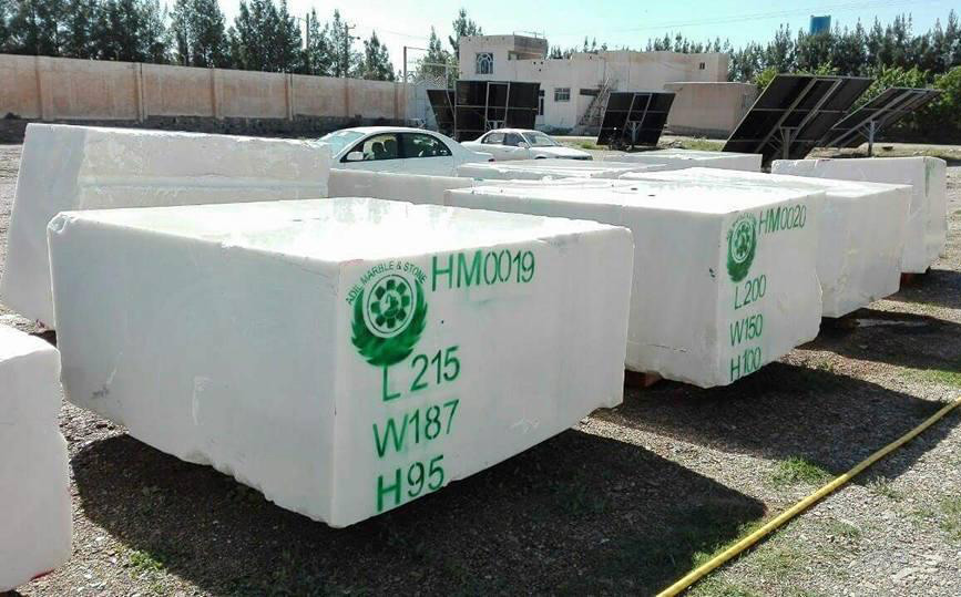 Afghan White Marble Blocks
