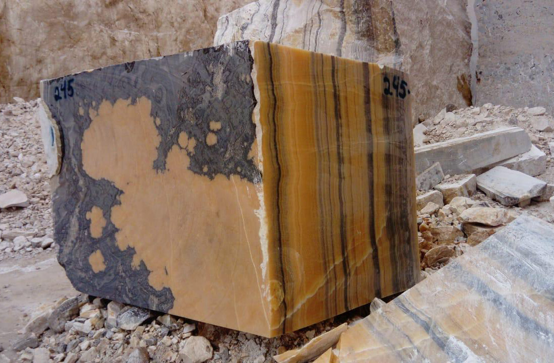 Orange Onyx Blocks from Mexico