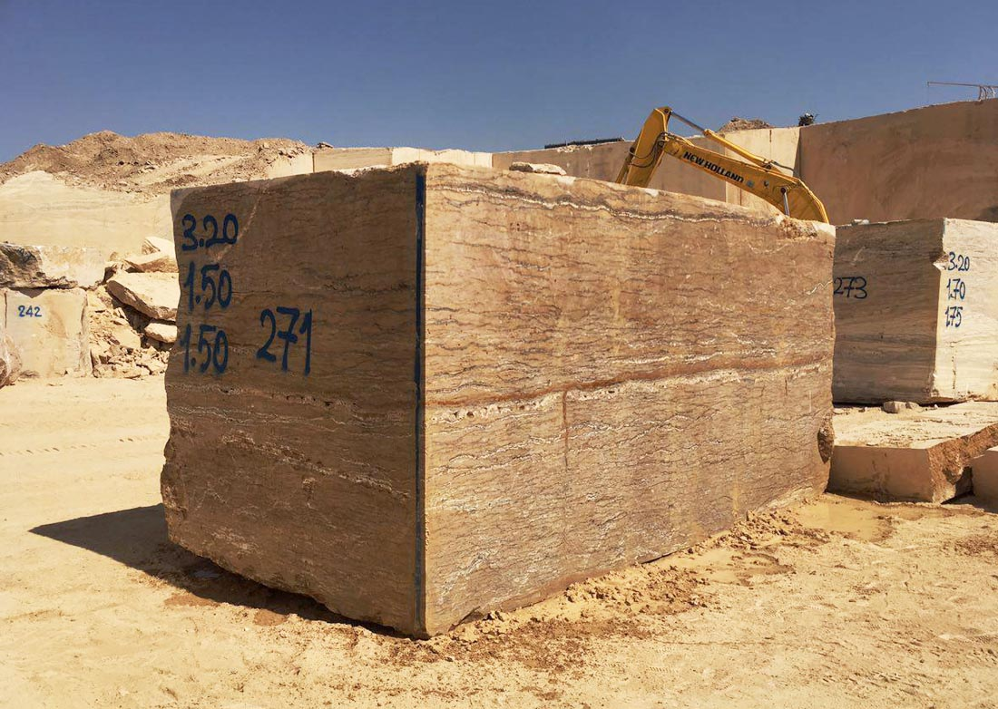 Iranian Walnut Travertine Blocks