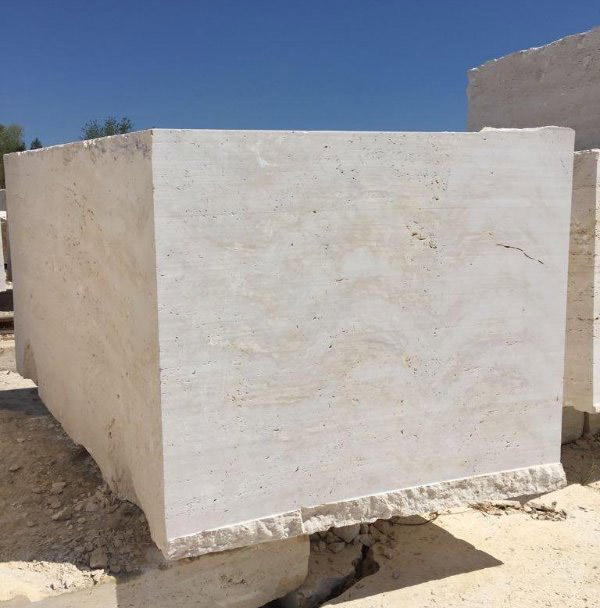 Navona White Travertine Blocks