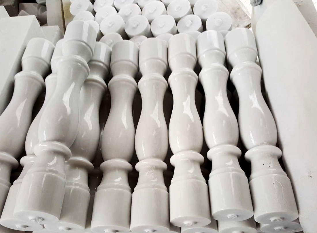 Pure White Marble Balusters