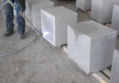 Grey granite flamed
