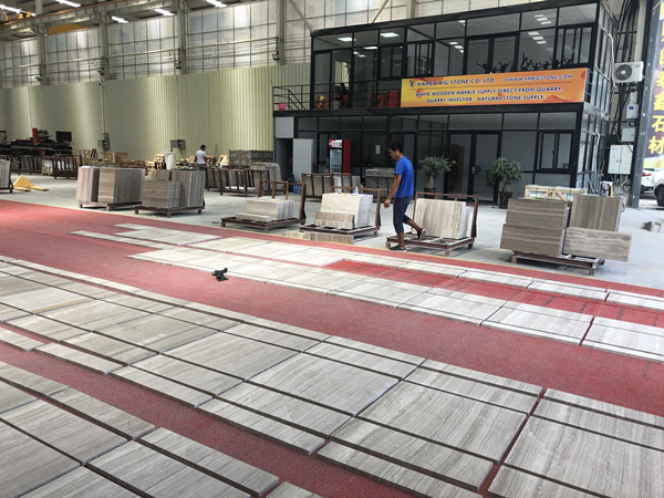 white wooden marble factory