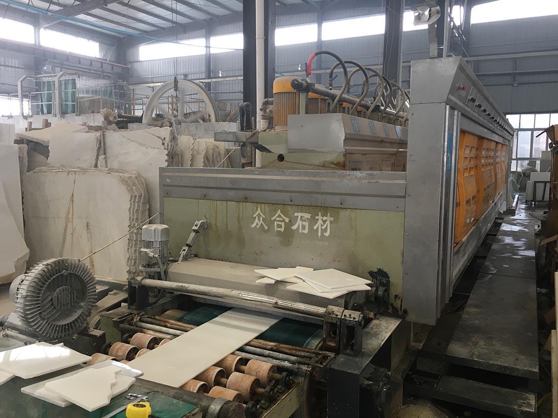 marble tiles polishing line