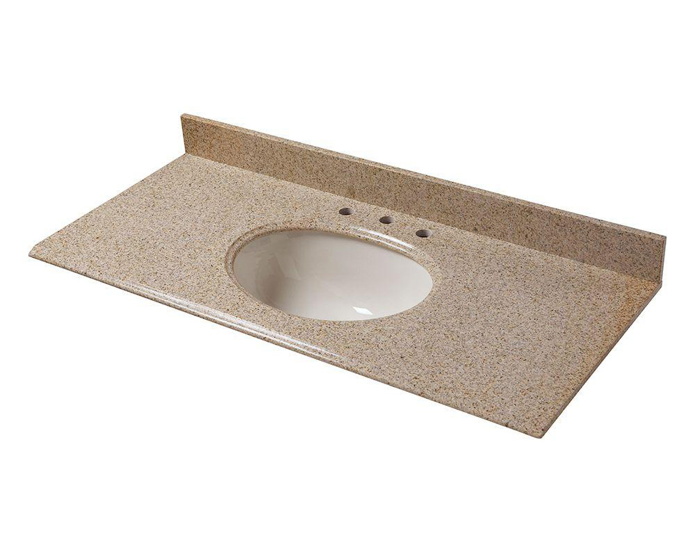 G682 Granite Vanity Tops Yellow Granite Bathroom Countertops