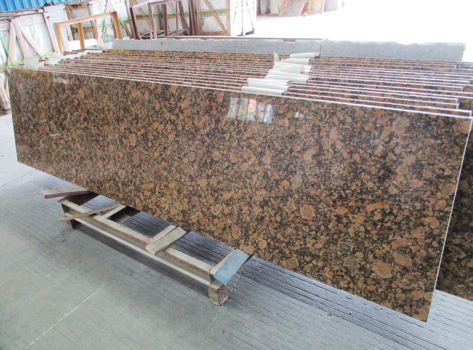 Prefab Giallo Fiorito Granite Countertops