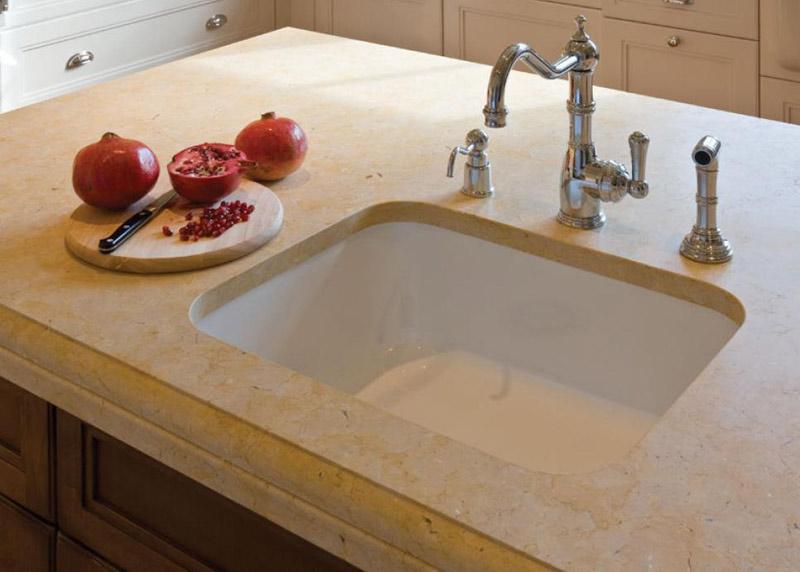 Beige Limestone Kitchen Countertops