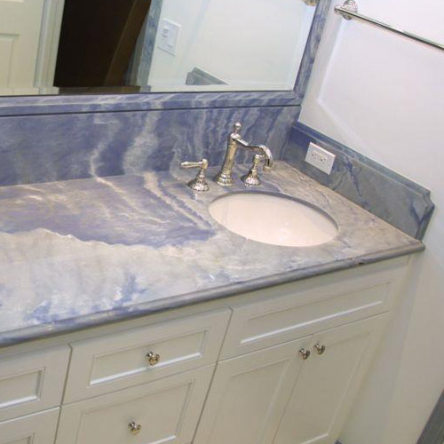 Blue Marble Bathroom Countertop