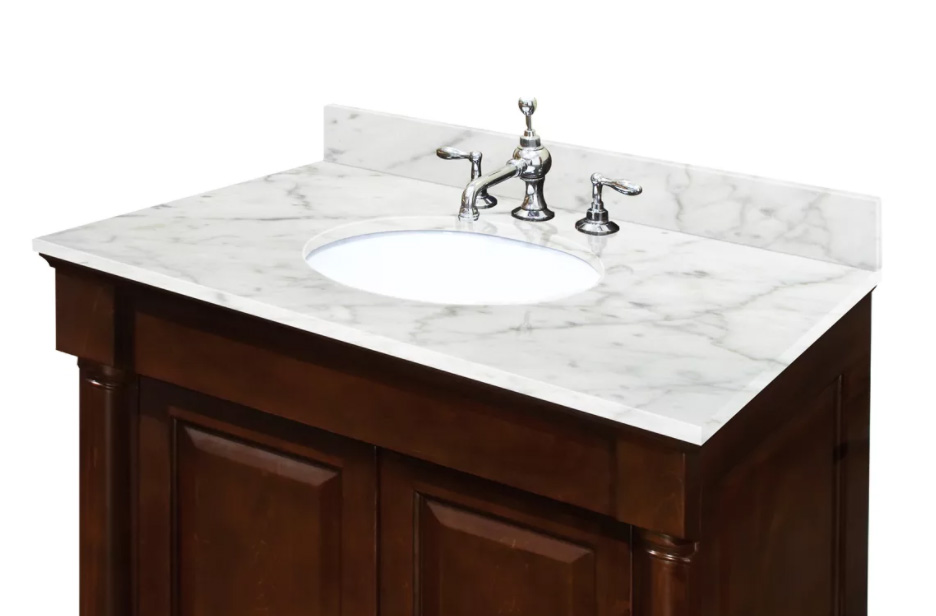 Carrara White Marble Vanity Tops Bathroom Countertops