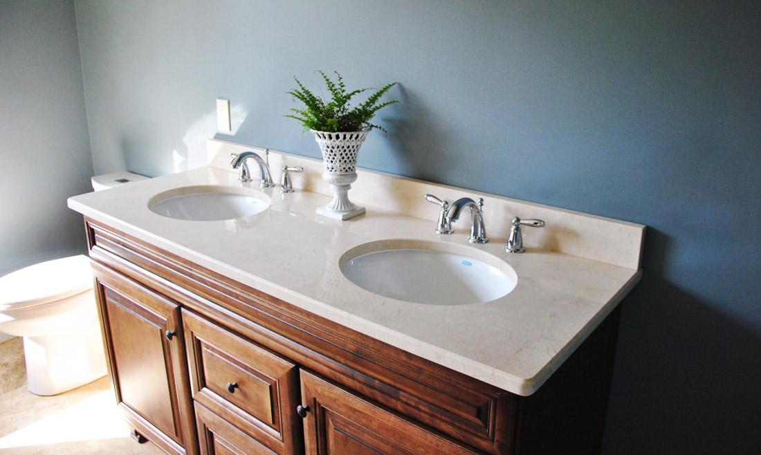 Crema Marfil Marble Vanity Tops Bathroom Countertops