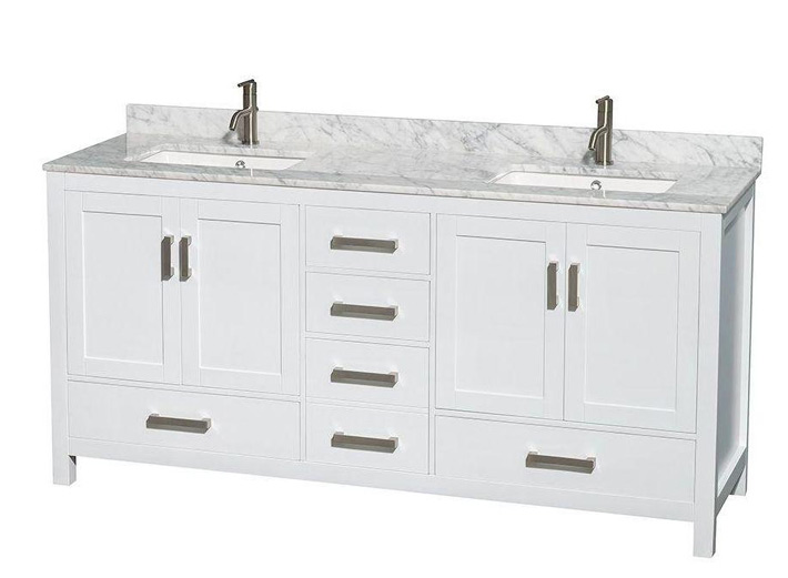 Mugla White Marble Bathroom Vanity Tops