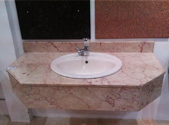 Pink Marble Bathroom Vanity Tops