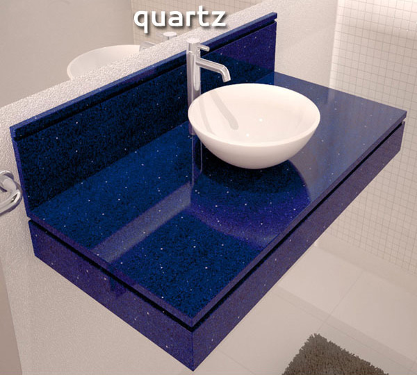 Blue Quartz Vanity Top Bathroom