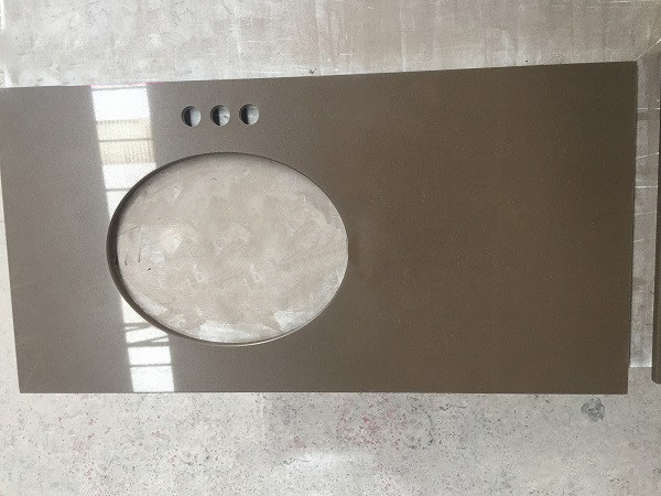 Brown Quartz Vanity Top