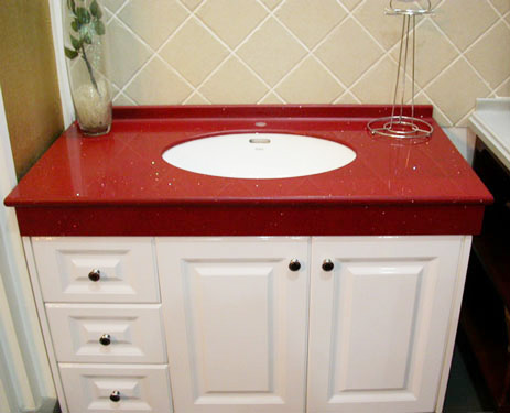 Red Quartz Vanity Top