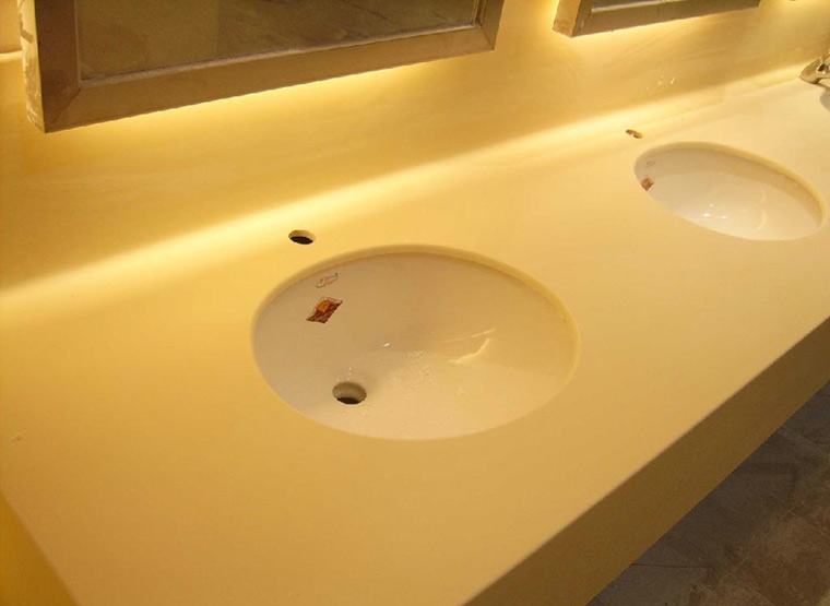 Yellow Quartz Vanity Top