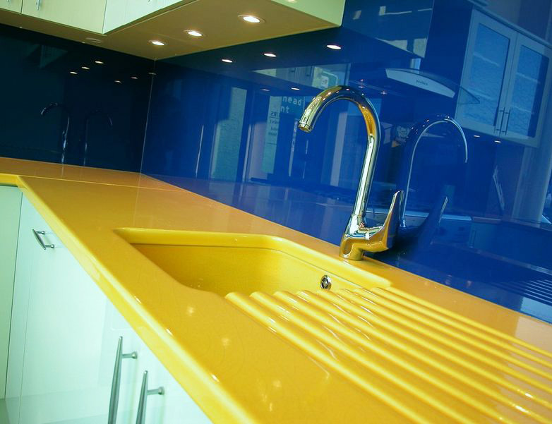 Yellow Quartz Kitchen Countertop